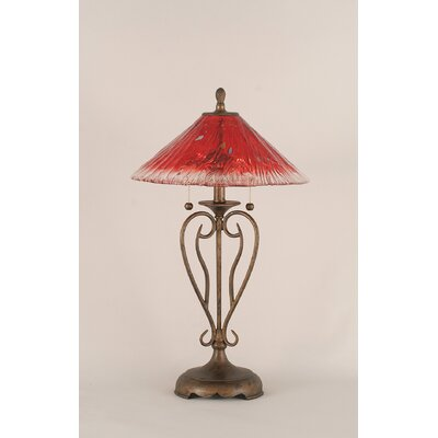 """Toltec Lighting Olde Iron 27"""" H Table Lamp with Empire Shade"""