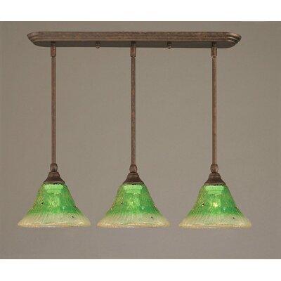 Toltec Lighting 3 Light Multi Light Mini Pendant With Hang Straight Swivels