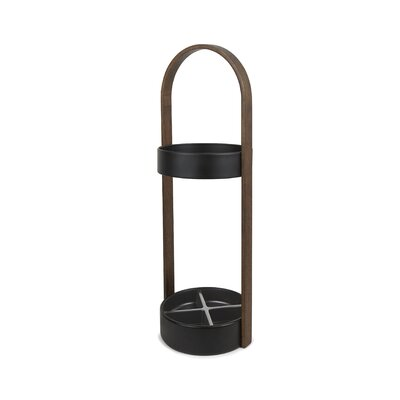 Hub Umbrella Stand Finish: Black/Walnut