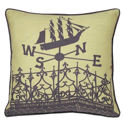 Kevin O'Brien Studio Nauticals Widow's Walk Throw Pillow
