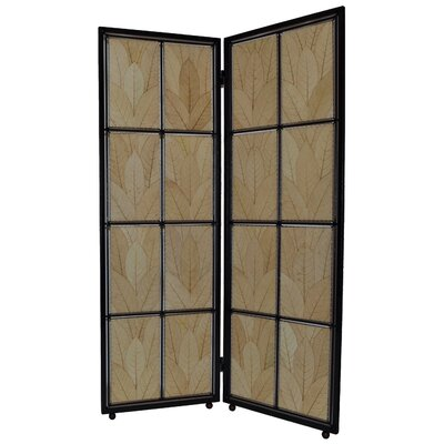 Cocoa Leaf 2 Panel Room Divider Color: Natural