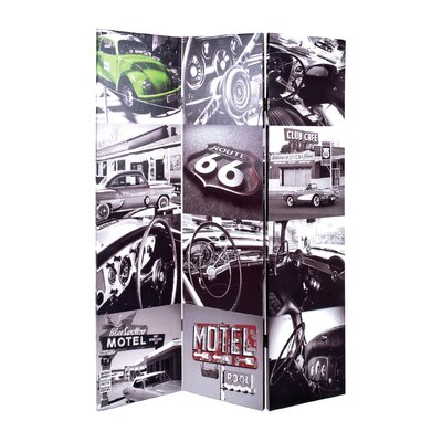 House Additions 180cm x 120cm Cars 3 Panel Room Divider