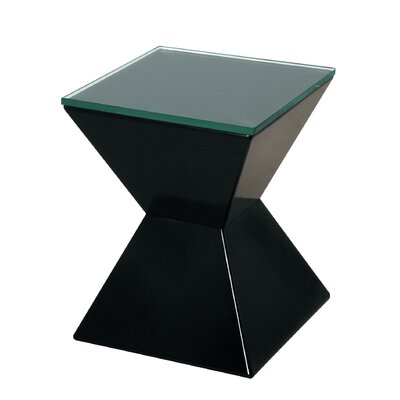 House Additions Side Table Glass Top