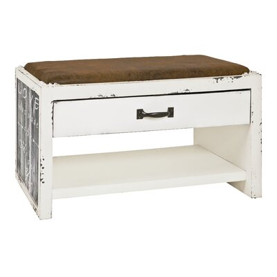 Haku Upholstered bench with storage space made of MDF and faux leather