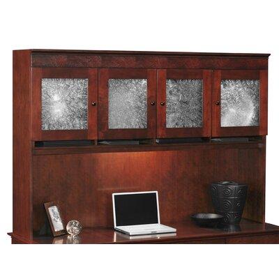 """Del Mar 48"""" H x 69.5"""" W Desk Hutch Doors: Crackle Glass"""
