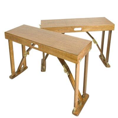 Alpharetta Portable Folding Bench Color: Warm Oak