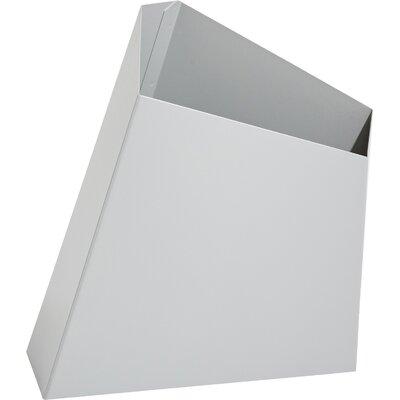 """Metal Pot Planter Color: Silver, Size: 19"""" H x 11"""" W x 11"""" D"""