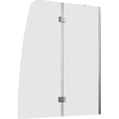 "DreamLine Aqua 58"" x 48"" Pivot Frameless Hinged Tub Door"