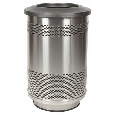 Stadium Series Perforated Metal 55 Gallon Trash Can