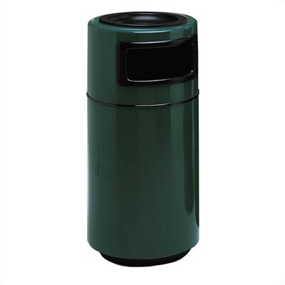 Side Entry Round Series Receptacle 25 Gallon Trash Can Color: Violet, Top Style: No edge trim