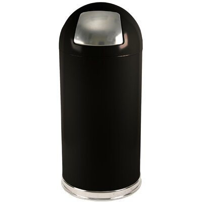 Dome Top Series Swing Top Trash Can Color: Black, Gallon Capacity: 15
