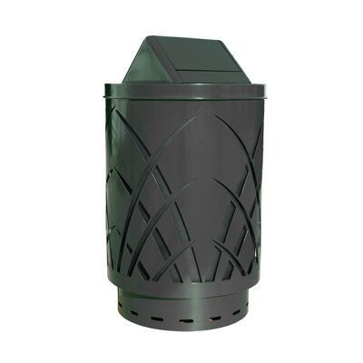 Witt Covington 40-Gal Sawgrass Laser Cut Metal Waste Receptacle with Swing Push Door