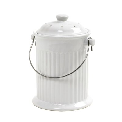 1 Gal. Kitchen Composter Color: Ceramic White