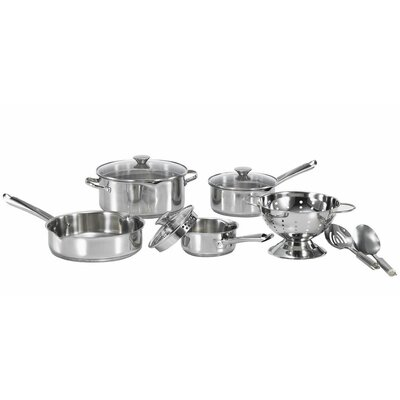 WearEver Cook and Strain 3-Ply Stainless Steel 10 Piece Cookware Set