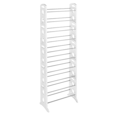 Floor 10-Tier 30 Pair Shoe Rack Finish: White