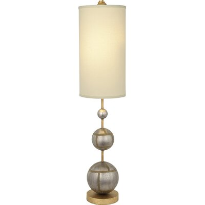 """Flambeau Lighting Marie 34"""" H Table Lamp with Drum Shade"""