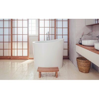 "True Ofuro Mini 43.25"" x 43"" Freestanding Soaking Bathtub"