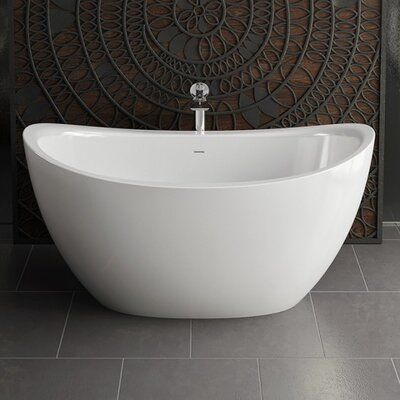 "Purescape Mini 63"" x 38.75"" Freestanding Soaking Bathtub"