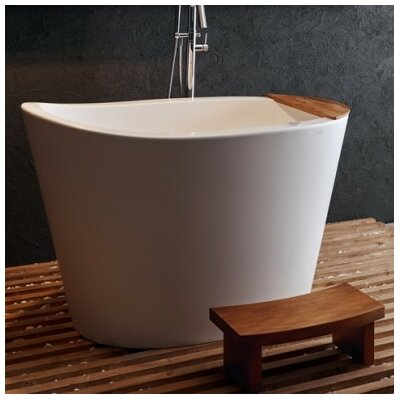 "True Ofuro Tranquility Heated 51.5"" x 36.25"" Freestanding Air/Whirlpool Bathtub"