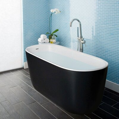 "Lullaby-Mini 55"" x 27.5"" Freestanding Soaking Bathtub"
