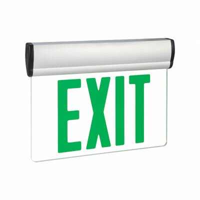 Barron Lighting Single Face Green LED Edge Lit Exit Sign