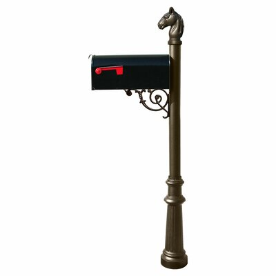 Lewiston Mailbox Mailbox with Post Included Color: Bronze