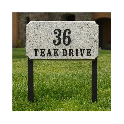 2-Line Lawn Address Sign Plaque Color: Five Color Natural