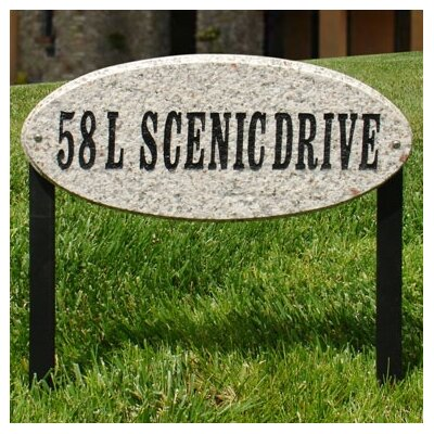 Rockport 1-Line Lawn Address Sign