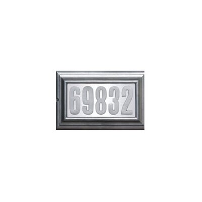 Edgewood 1-Line Wall Address Plaque Finish: Pewter