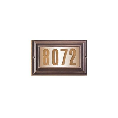 Edgewood 1-Line Wall Address Plaque Finish: French Bronze