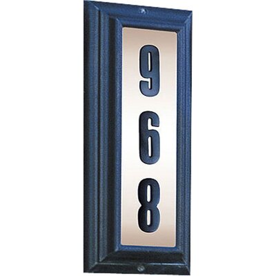 Edgewood 3-Line Wall Address Plaque Finish: Antique Copper