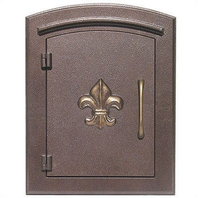 Manchester Wall Mounted Mailbox Finish: Antique Copper, Security: Locking Rear Door
