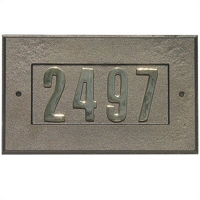 Manchester 1-Line Wall Address Plaque Finish: Antique Copper