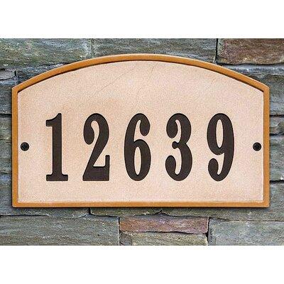 Riviera 1-Line Wall Address Plaque Plaque Color: Sandstone