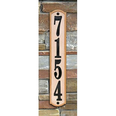 Knollbrook 4-Line Wall Address Plaque Plaque Color: Sandstone