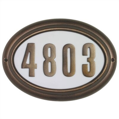 Edgewood 1-Line Wall Address Plaque