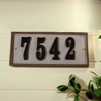 Ridge 1-Line Wall Address Plaque Plaque Color: Slate