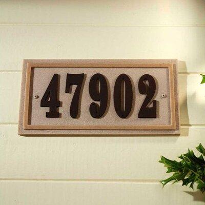 Ridge 1-Line Wall Address Plaque Plaque Color: Sandstone