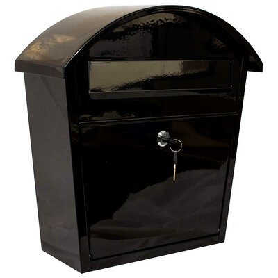 Winfield Locking Wall Mounted Mailbox Color: Black