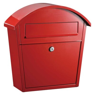 Winfield Locking Wall Mounted Mailbox Color: Red