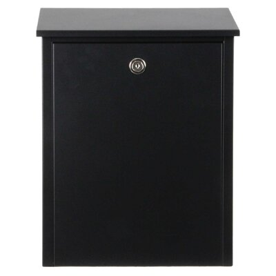 Allux Locking Wall Mounted Mailbox Color: Black