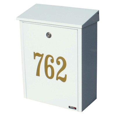 Allux Locking Wall Mounted Mailbox Color: White
