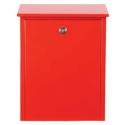 Allux Locking Wall Mounted Mailbox Color: Red