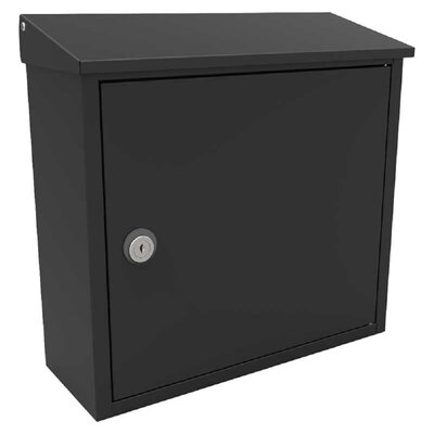 Allux Locking Wall Mounted Mailbox Mailbox Color: Black
