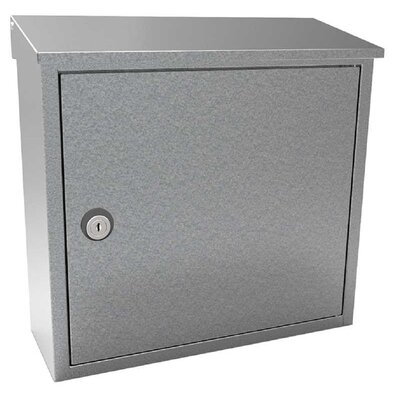 Allux Locking Wall Mounted Mailbox Mailbox Color: Galvanized