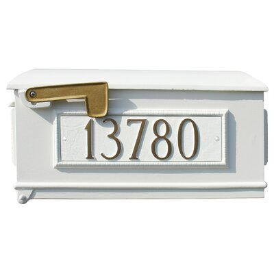 Lewiston Post Mounted Mailbox Color: White