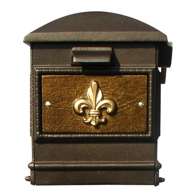Lewiston Post Mounted Mailbox Color: Bronze