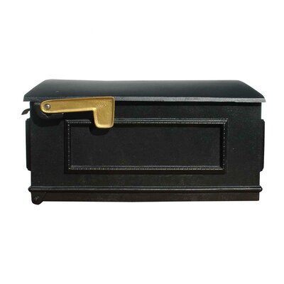 Lewiston Post Mounted Mailbox Color: Black