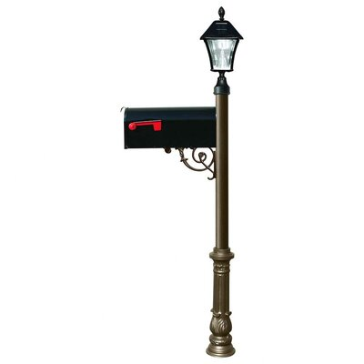 Lewiston Mailbox with Post Included Color: Bronze
