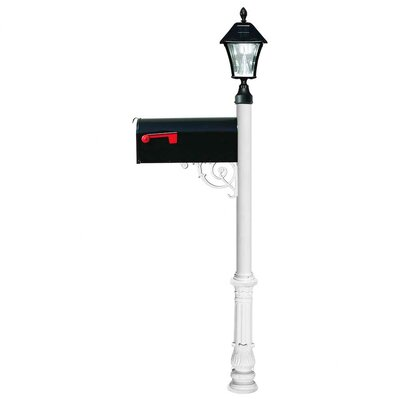 Lewiston Mailbox with Post Included Color: White
